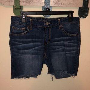 dark wash jeans.